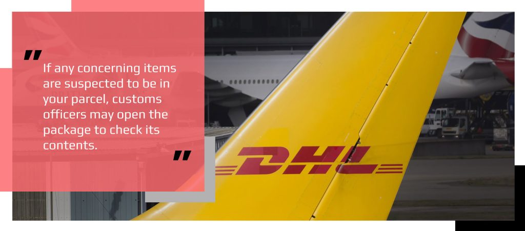 DHL package delivery transport plane tail insignia