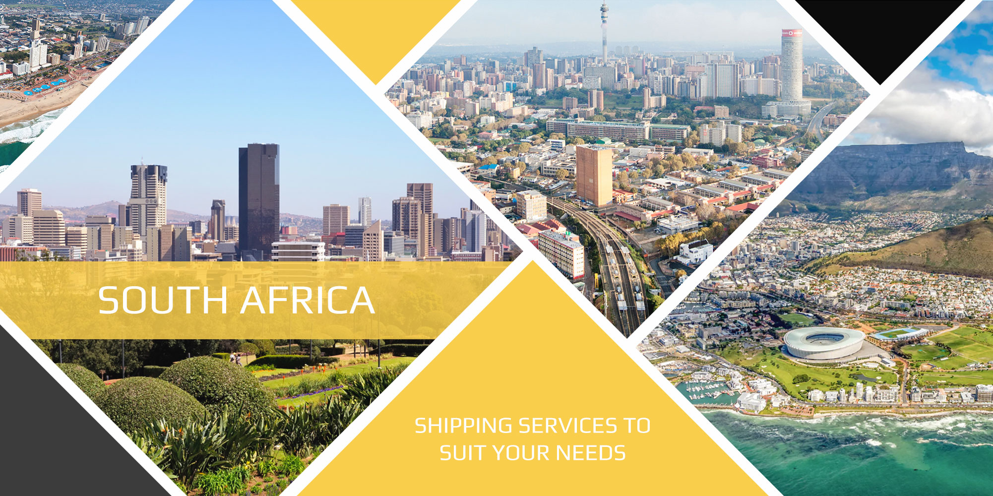 Shipping to South Africa country banner