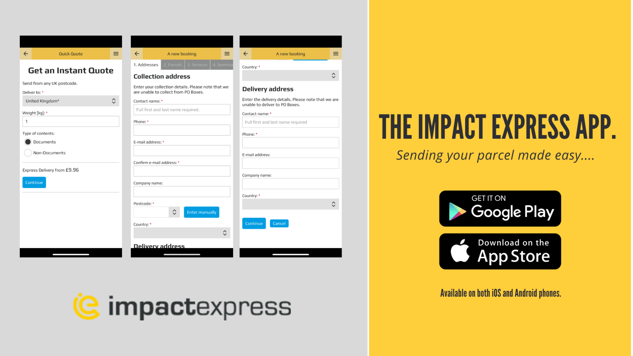 ImpactExpress app screenshots